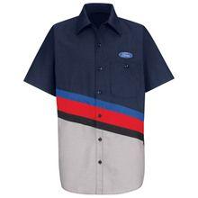 Red Kap Ford Uniform  Short Sleeve Work Dealer Shirt