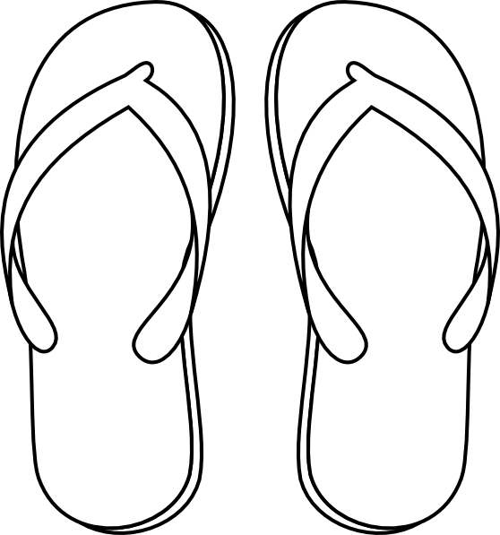 5445699eb2b59 drawing of a flip flop