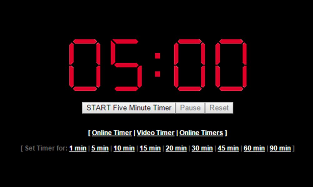5 Minute Timer 300 Seconds Http Timer Onlineclock Net Timers