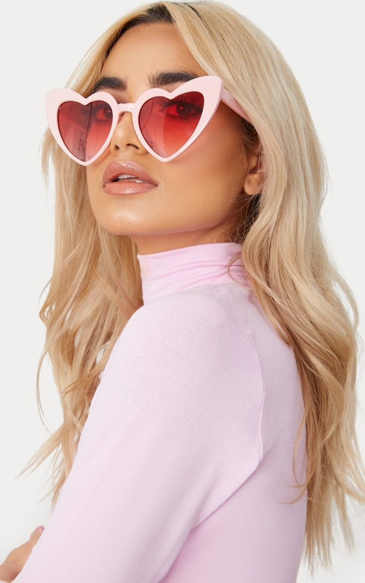 fa52b77a502d Pink Heart Shape Sunglasses. Shop the range of accessories today at  PrettyLittleThing. Express delivery available. Order now