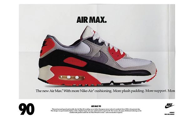 official photos 73dd9 bb410 The 90 s Are Back with the Nike Air Max 90 vintage ad  vintageads
