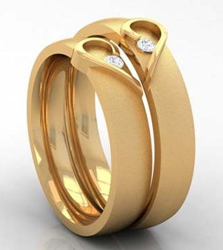 15 Matching Pair Couple Gold Rings Designs in India jewelry