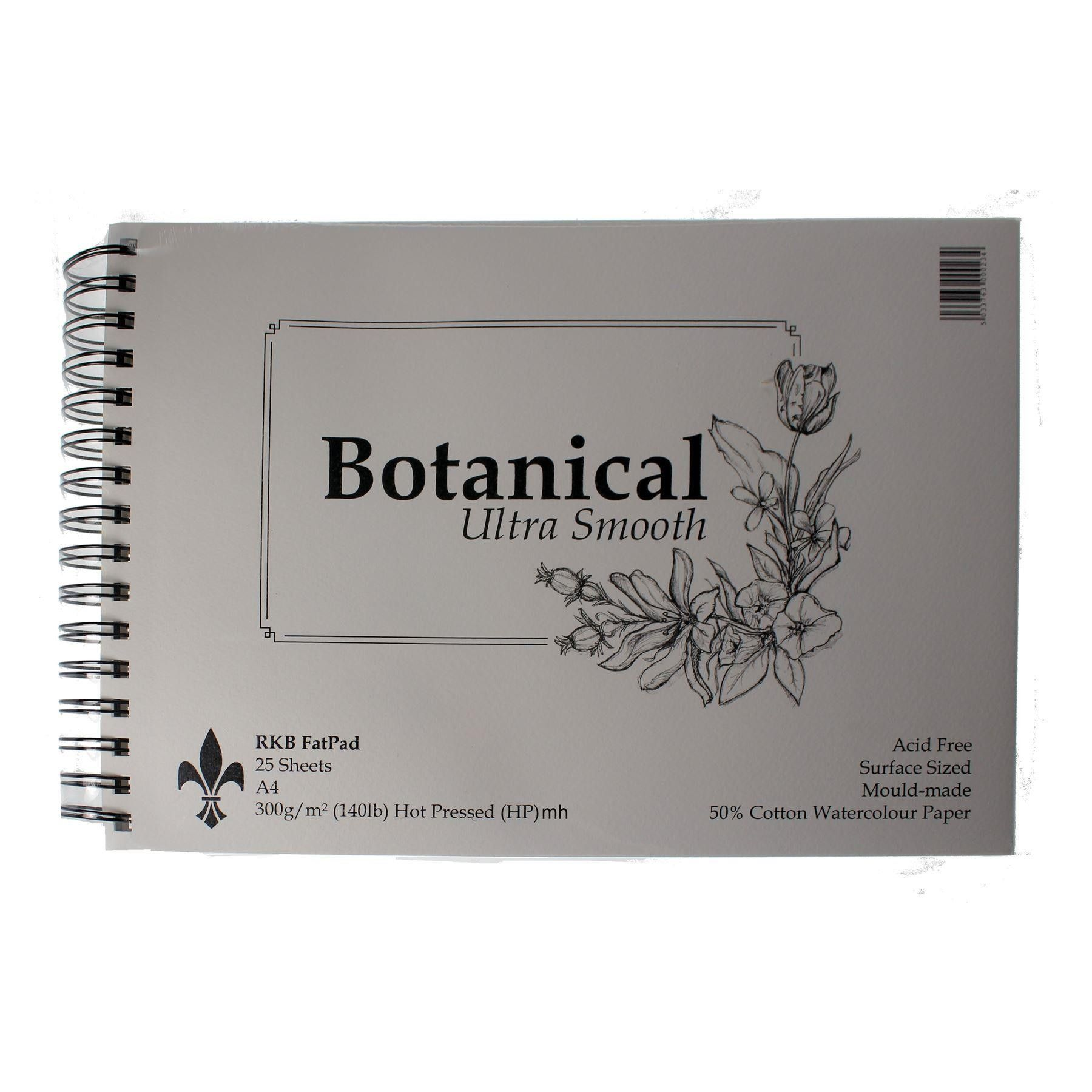 Rkb Botanical Ultra Smooth 50 Cotton Watercolour Paper Pads In