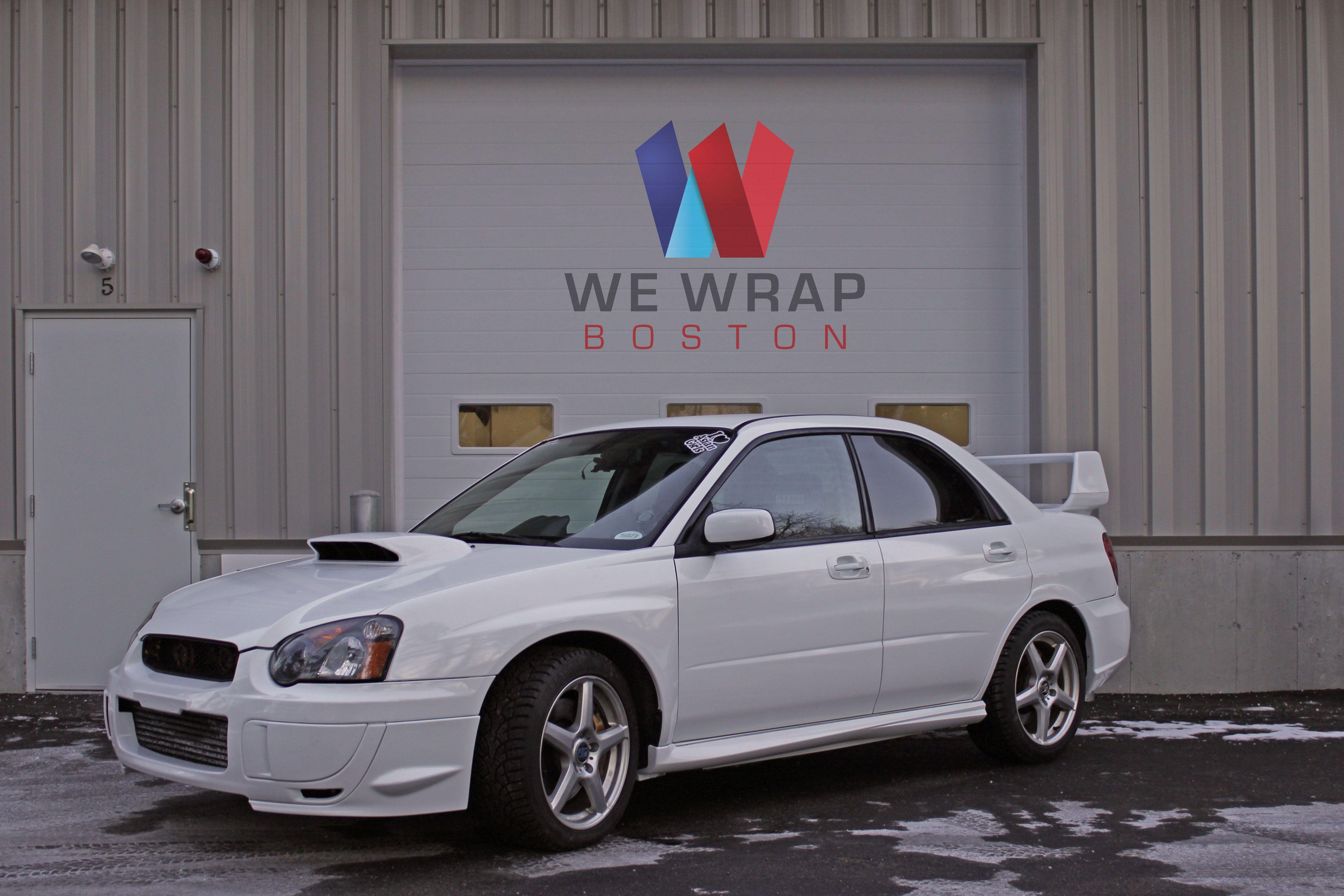 2005 Subaru Wrx Sti Gloss White Color Change Wrap Www