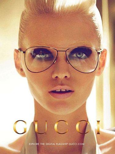 312fb07cf6de Abbey Lee Kershaw for Gucci eyewear.