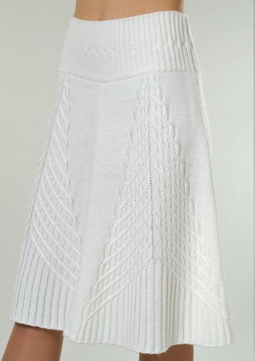 white knit skirt | Спицами | Pinterest | Ganchillo, Costura y Puntos