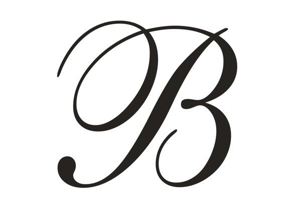 Monogram Rubber Stamp With A Clear Acrylic Block Etsy Cursive Letters Fancy Cursive B Fancy Cursive