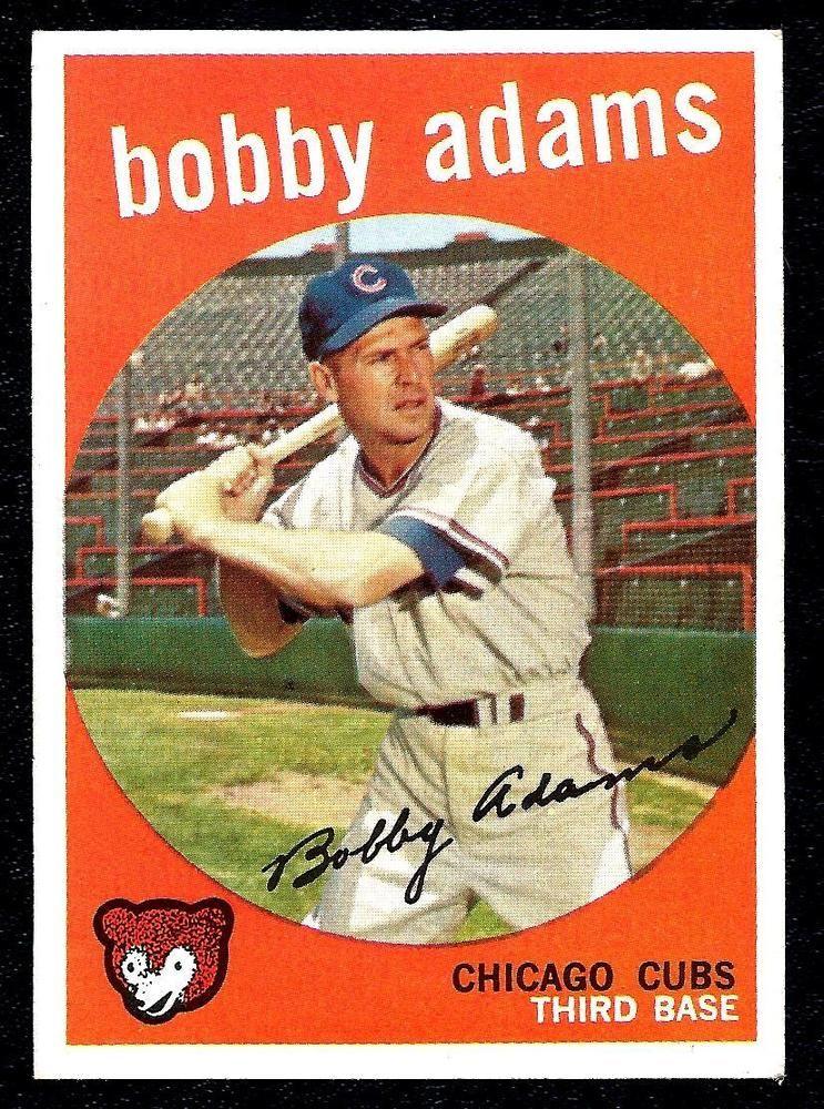 1959 topps baseball bobby adams cubs 249 near mint