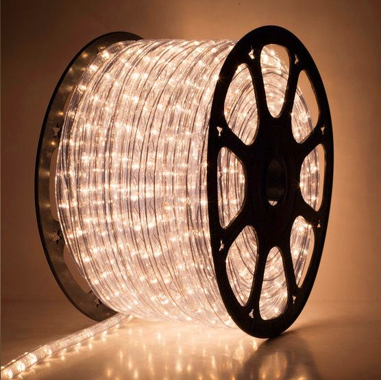 """12 Volt Rope Lights 150' Clear Chasing Rope Light 3 Wire 12"""" 120 Volt  Rope Lighting"""