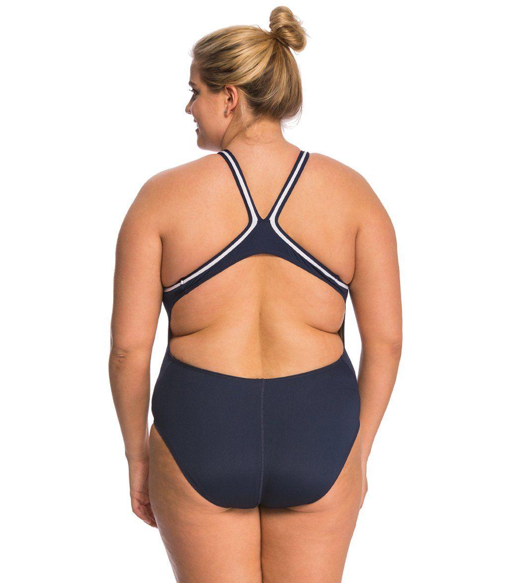 647da9159d4 Dolfin Lifeguard Plus Size DBX Back One Piece Swimsuit at SwimOutlet.com -  The Web s most popular swim shop
