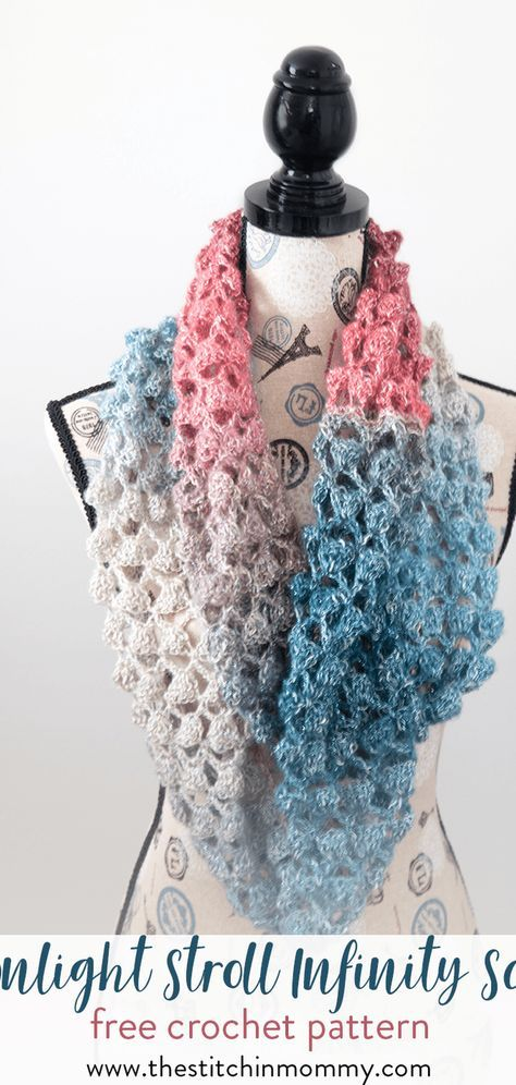 Moonlight Stroll Infinity Scarf - Free Crochet Pattern | Stricken ...