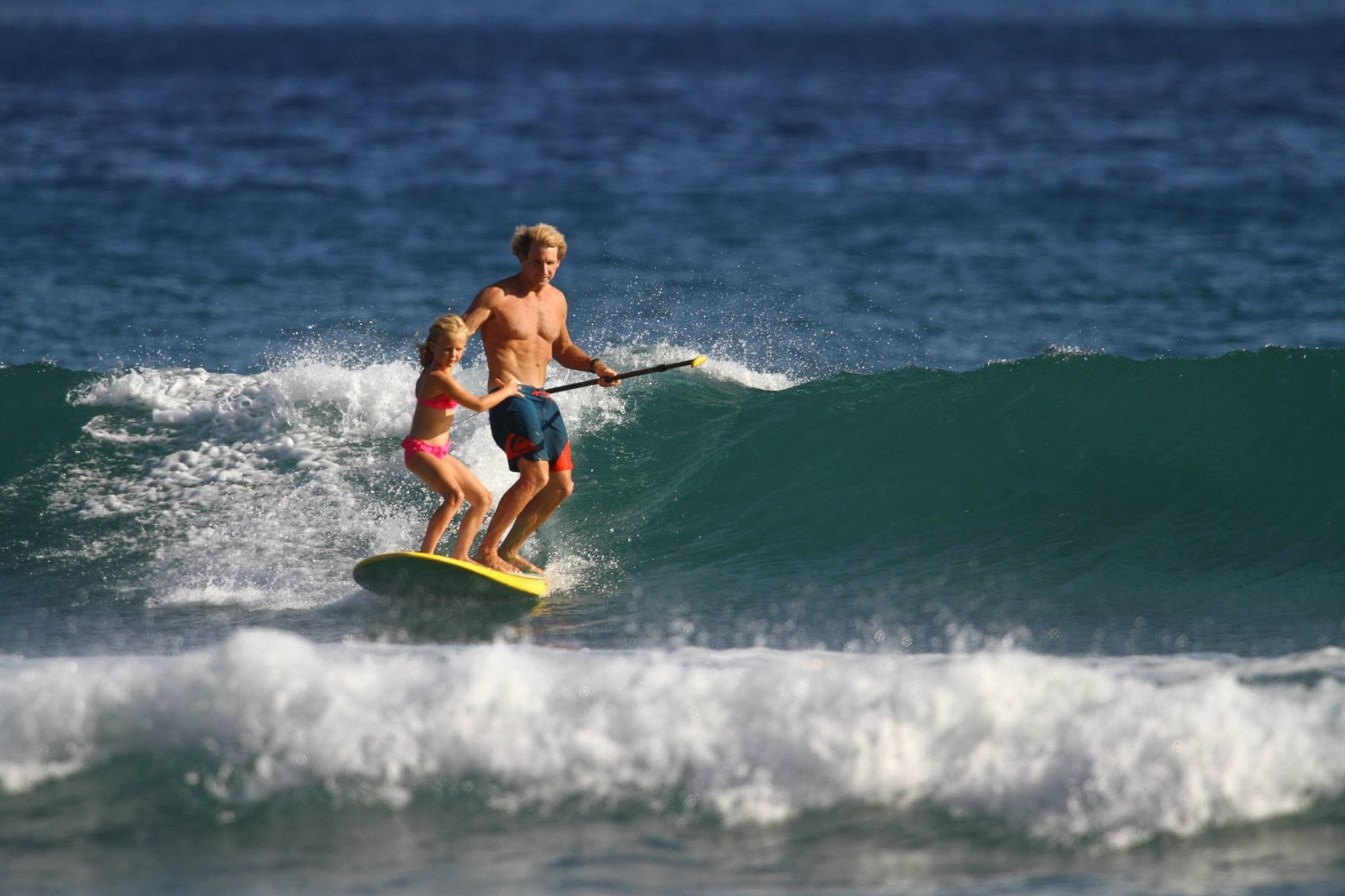 Robby Naish With Daughter Christina Maui Sup Surf