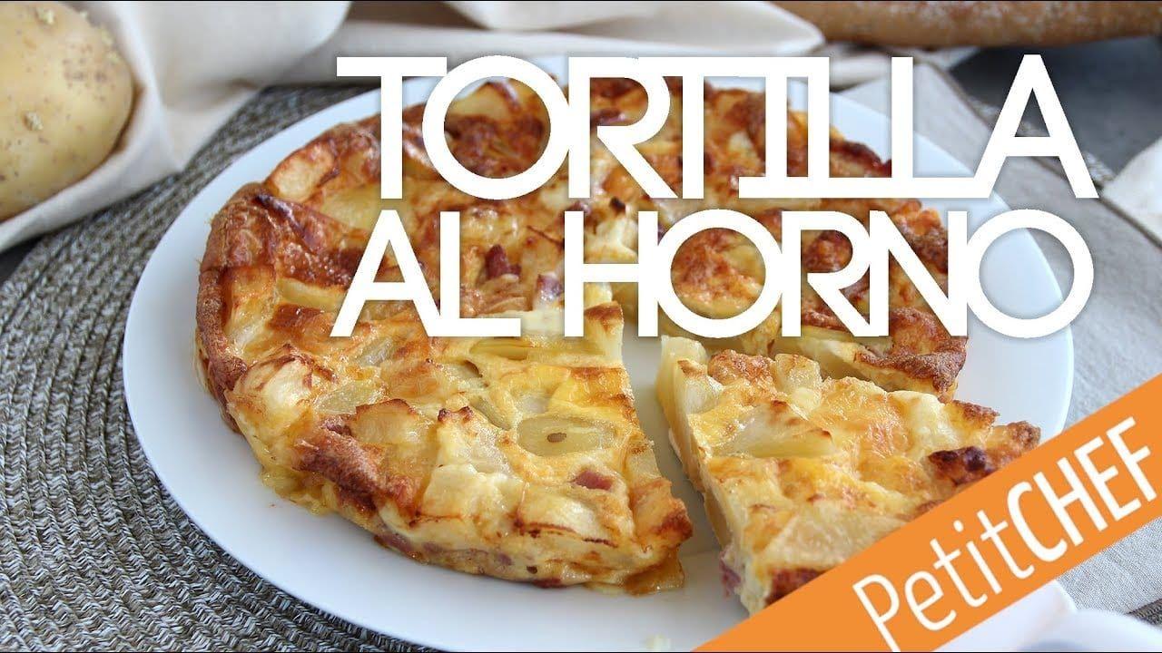 Receta tortilla de patatas y queso al horno