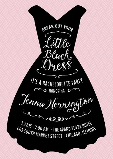 This Fun Invitation Features A Simple Little Black Dress