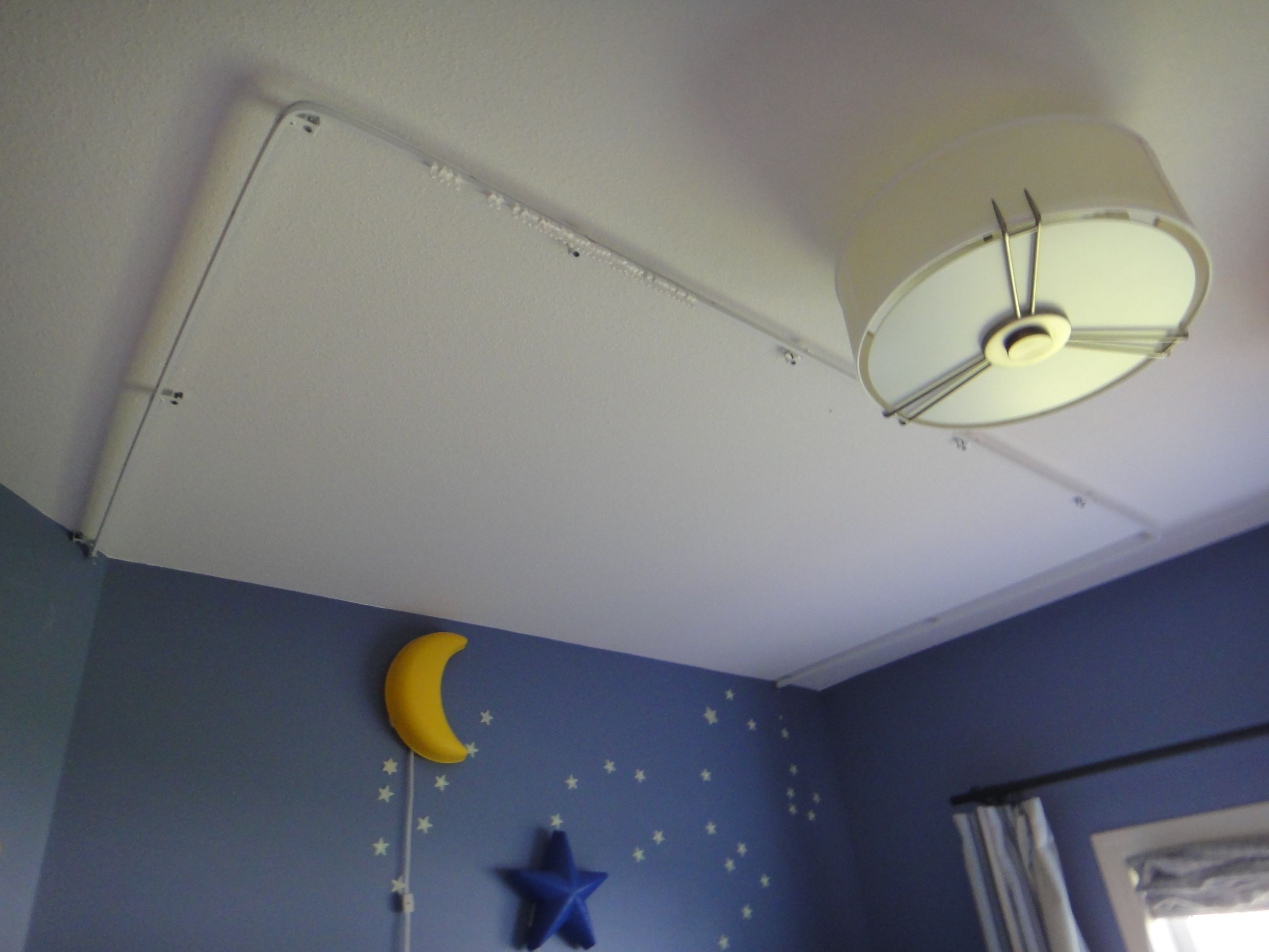 I beam curtain track to make loft bed curtains in my sons room