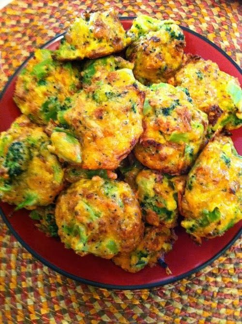 Low-Carb Broccoli Bites Recipe    Pre-heat oven to 375 degrees.   16 oz Chopped Brococoli 3 Eggs 1 cup crushed French's Fried Onions 11/...