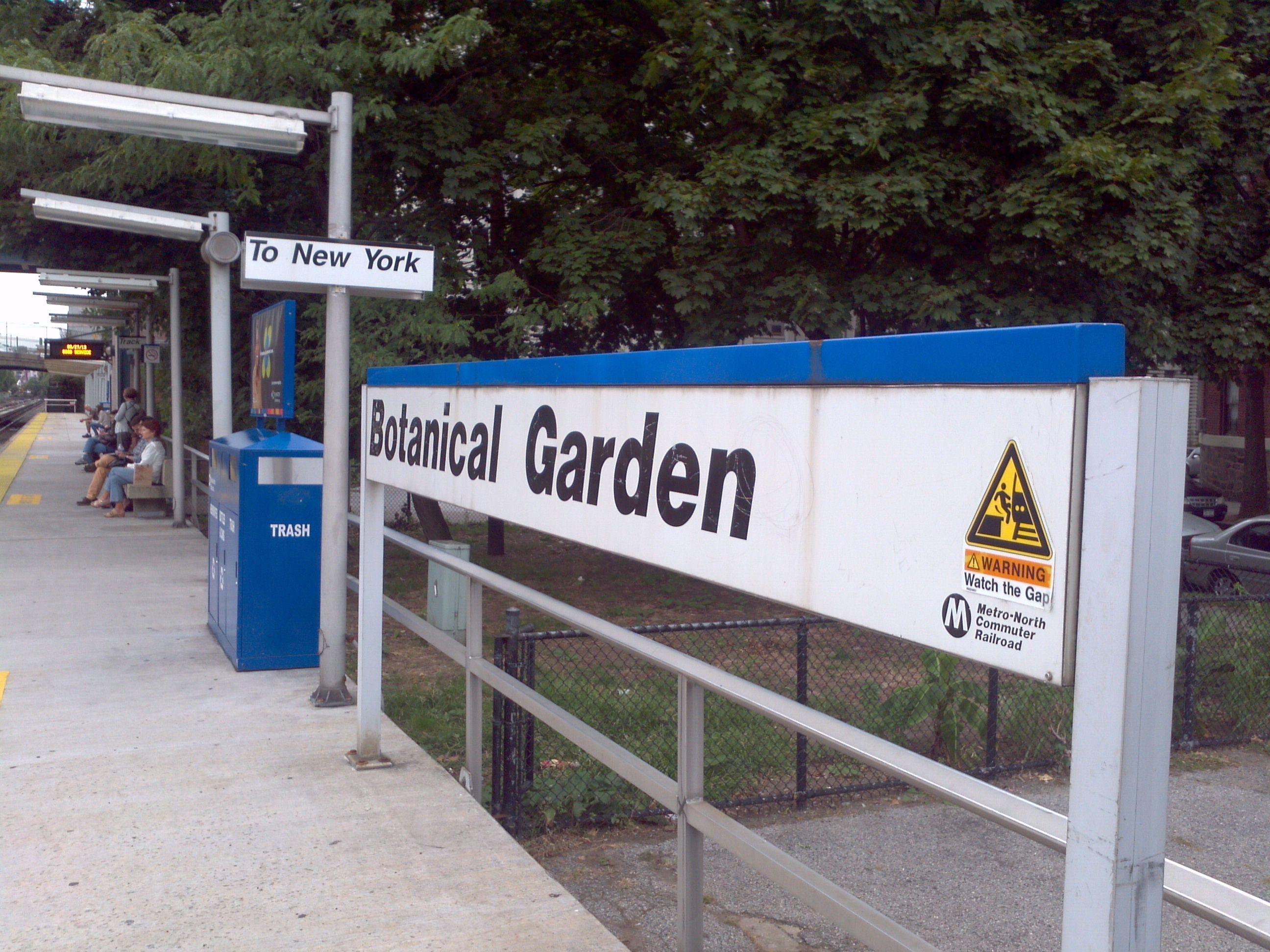Botanical Garden Station... Estação do Metro-North, que uso todos os dias...
