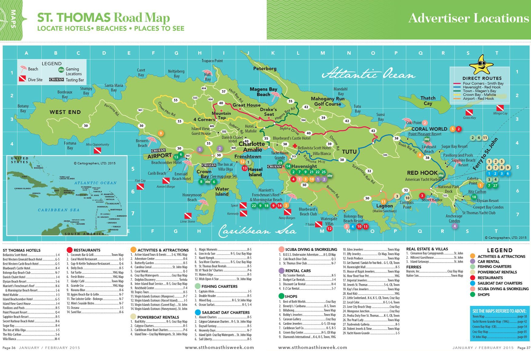 St. Thomas Island Road Map | Vacation destinations in 2019 ...