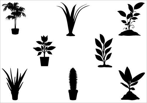 Plant Silhouette Vector Pack Silhouette Vector Silhouette Clip Art Clip Art