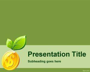 green money powerpoint template ppt template | paris | pinterest, Presentation templates