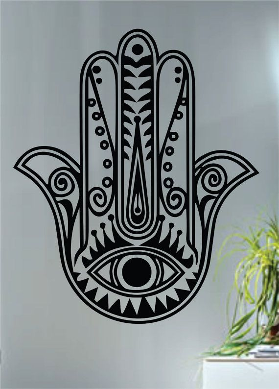 Hamsa hand version 5 decal sticker wall vinyl art by boopdecals 24 00