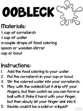 How to make oobleck with plain flour and water