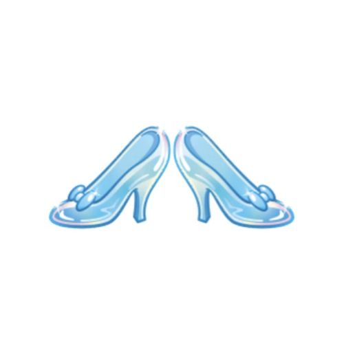 Cinderella S Glass Slippers As Emojis Drawing By Disney Cinderella Easy Drawings Cinderella Drawing Glass Slipper Cinderella