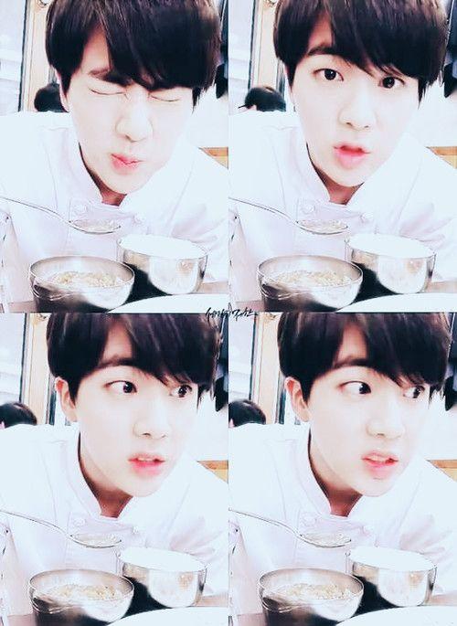 Jin so cute ^^