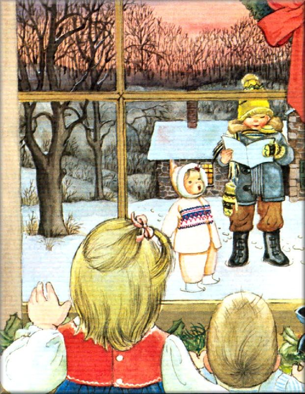 Baby's First Christmas - Illustration by Eloise Wilkin