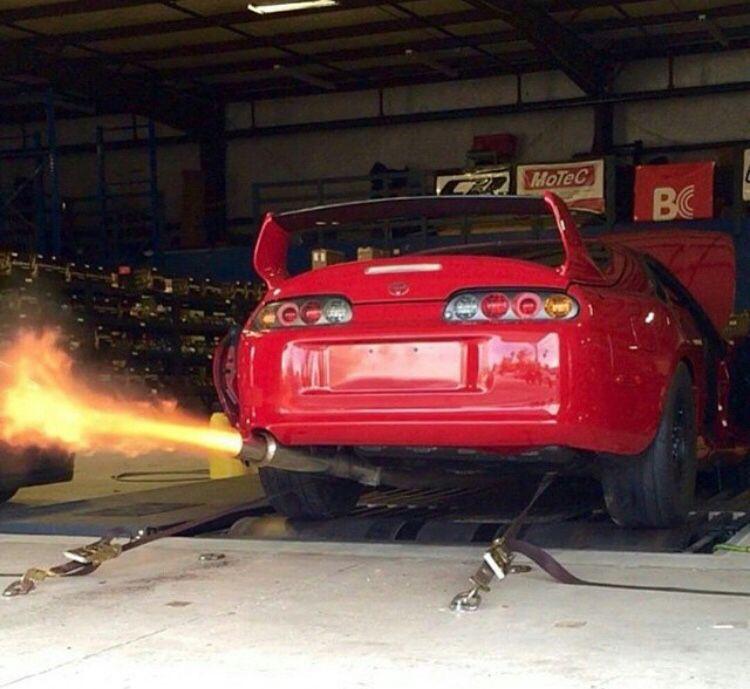 @lushfullux | Supra Spitting Flames · Toyota Supra Mk4Car ...