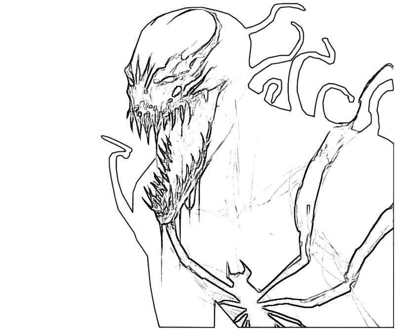 Carnage Coloring Pages Venom Coloring Pages To Print For Kids