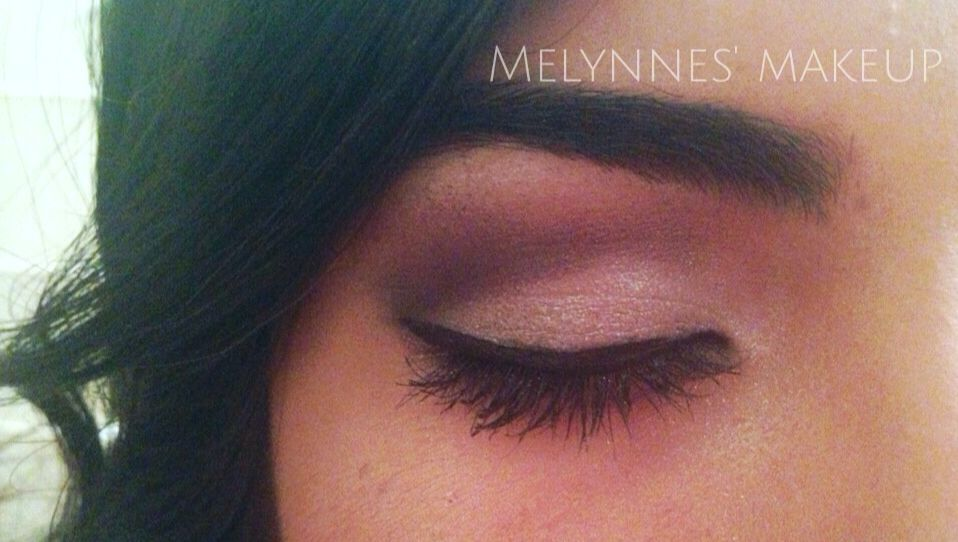 Purple and silver eyeshadow