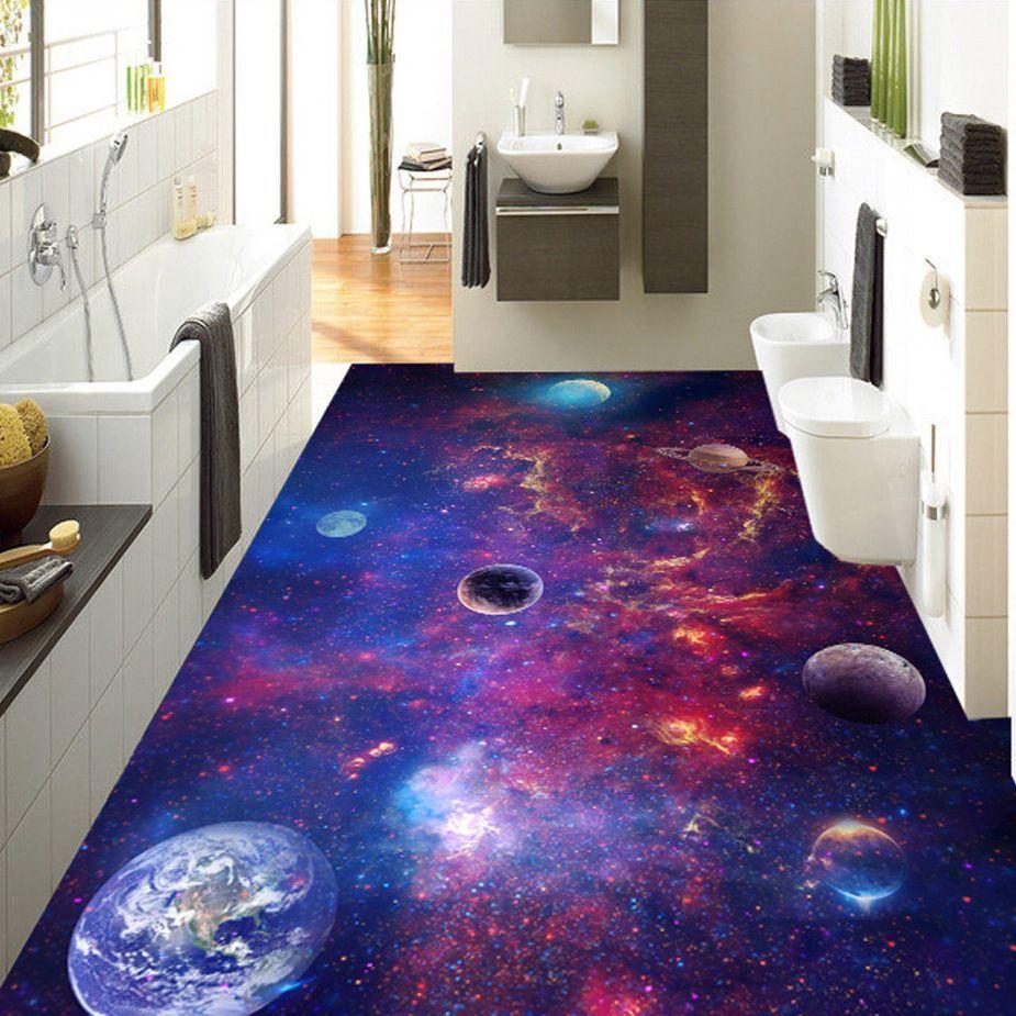 Floor Wallpaper Purple Color