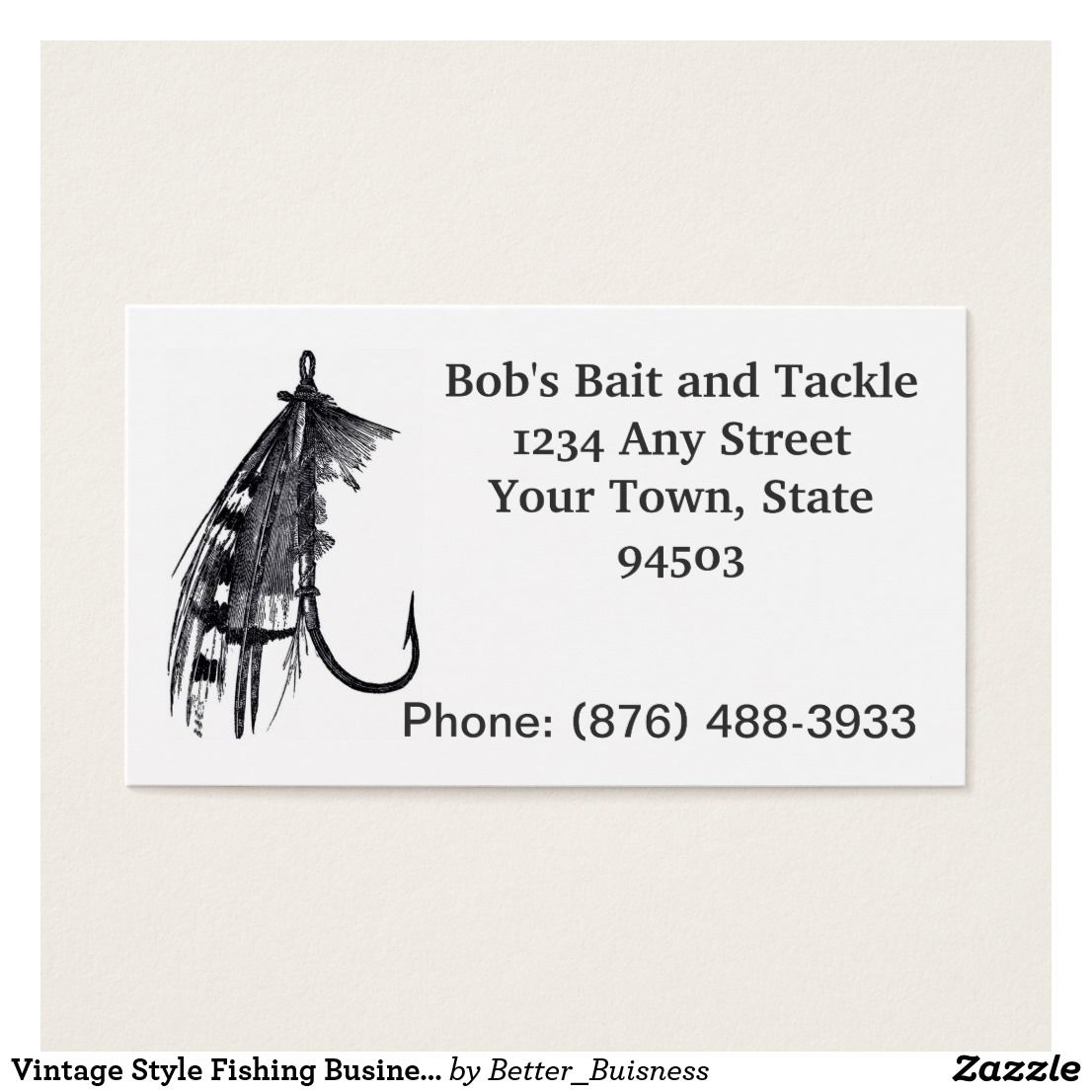 Vintage Style Fishing Business Business Card | Tackle shop