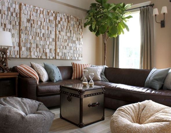 Decorating Around A Leather Sofa Centsational Style Brown Sofa Living Room Modern Living Room Brown Contemporary Family Rooms