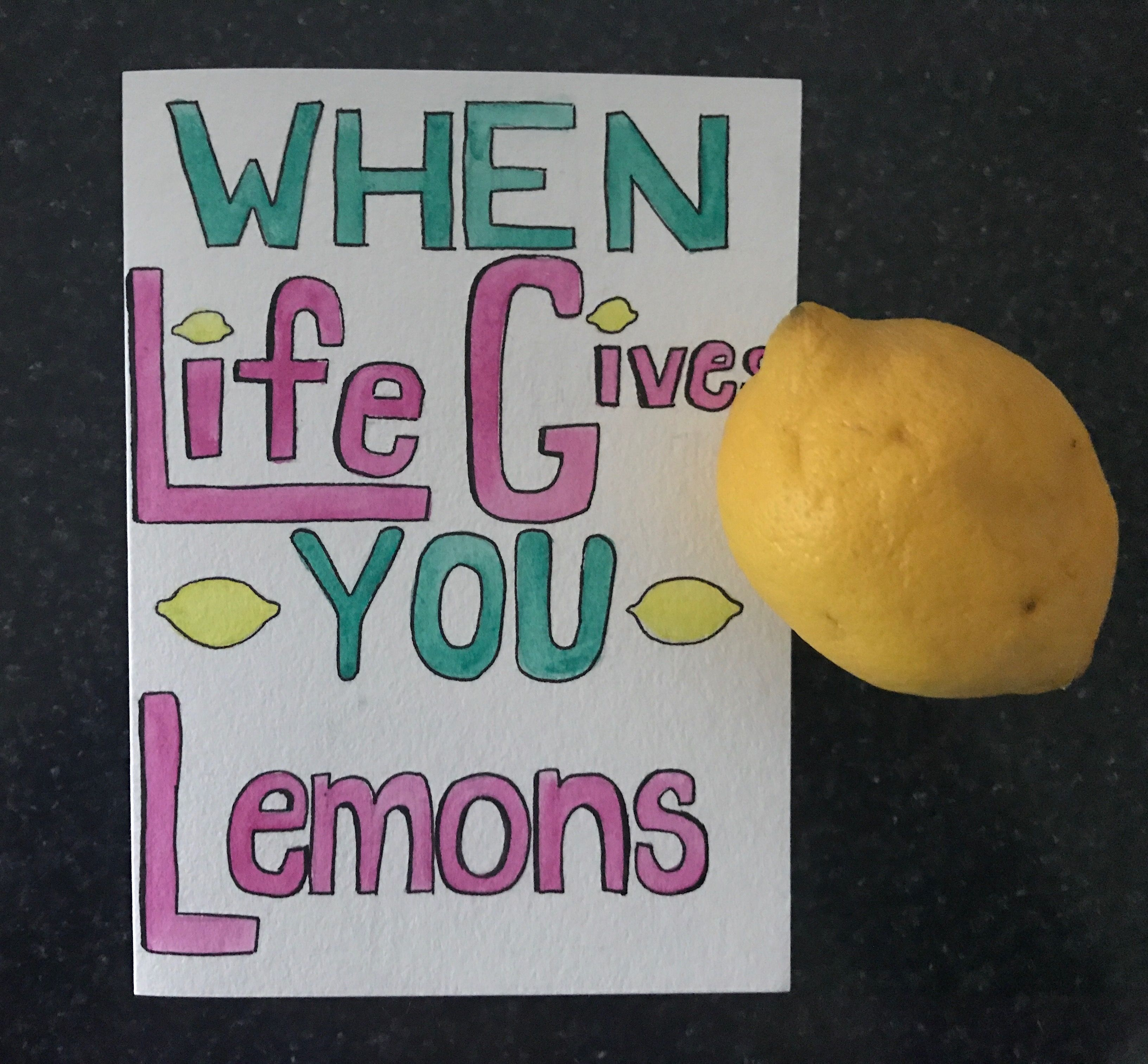 When Life Gives You Lemons Grab Salt And Tequila Hand Painted