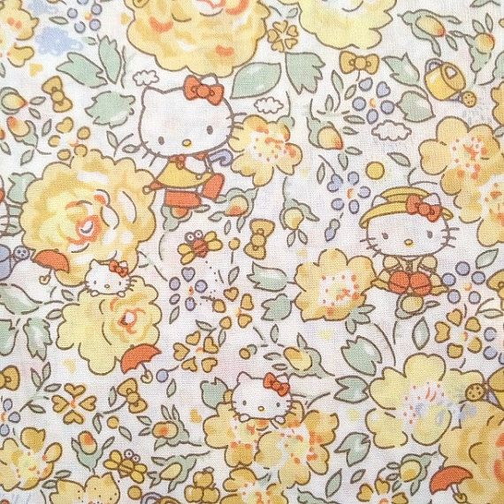 hello kitty x liberty of london art fabric  season 3 by washimatta, $12.50