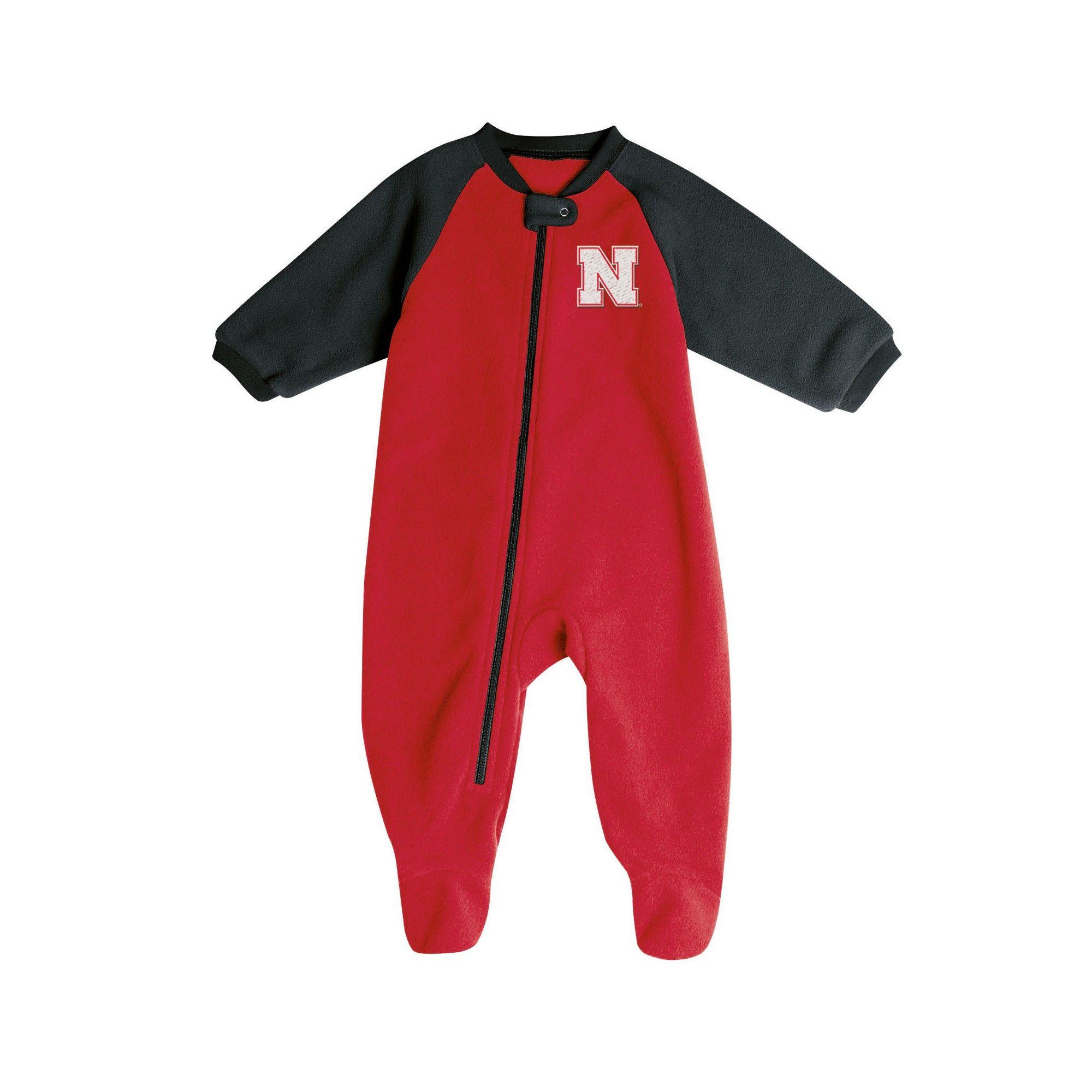 Nebraska Cornhuskers Baby Boys  Long Sleeve Blanket Sleeper - 0-3M ... d191d9590
