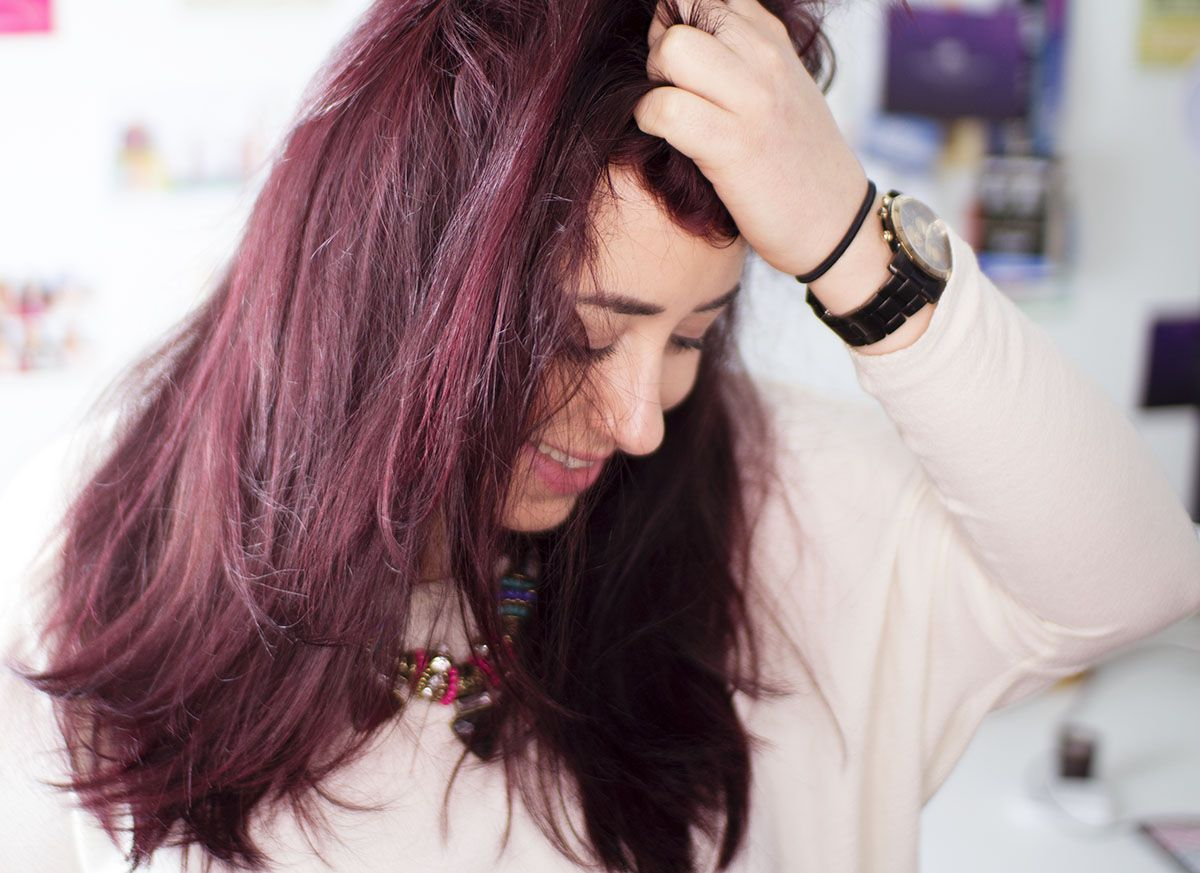 Red Hair Color Highlights Magenta Largeg 1200873 Reds