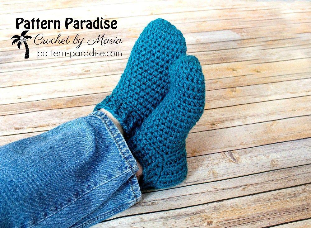 Free Crochet Pattern: Snappy Slippers   Pattern Paradise   Crochet ...