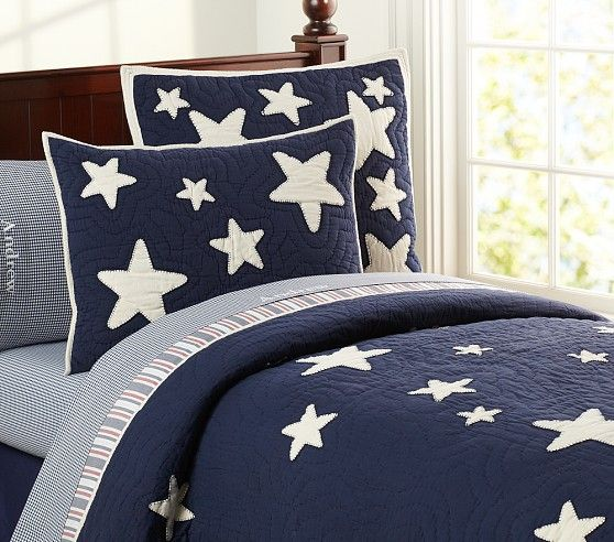 Star Quilted Bedding Pottery Barn Kids Kid Beds Quilt