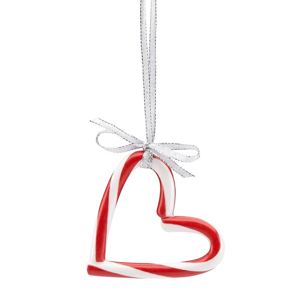 Candy Cane Heart Ornament Lenox Corporation Candy Cane Crafts Candy Cane Ornament Candy Cane