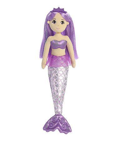 Love this 18'' Amethyst Mermaid Doll on #zulily! #zulilyfinds