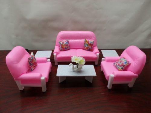 Gloria , Barbie Doll House Furniture/(94014) Living Room Play Set ...