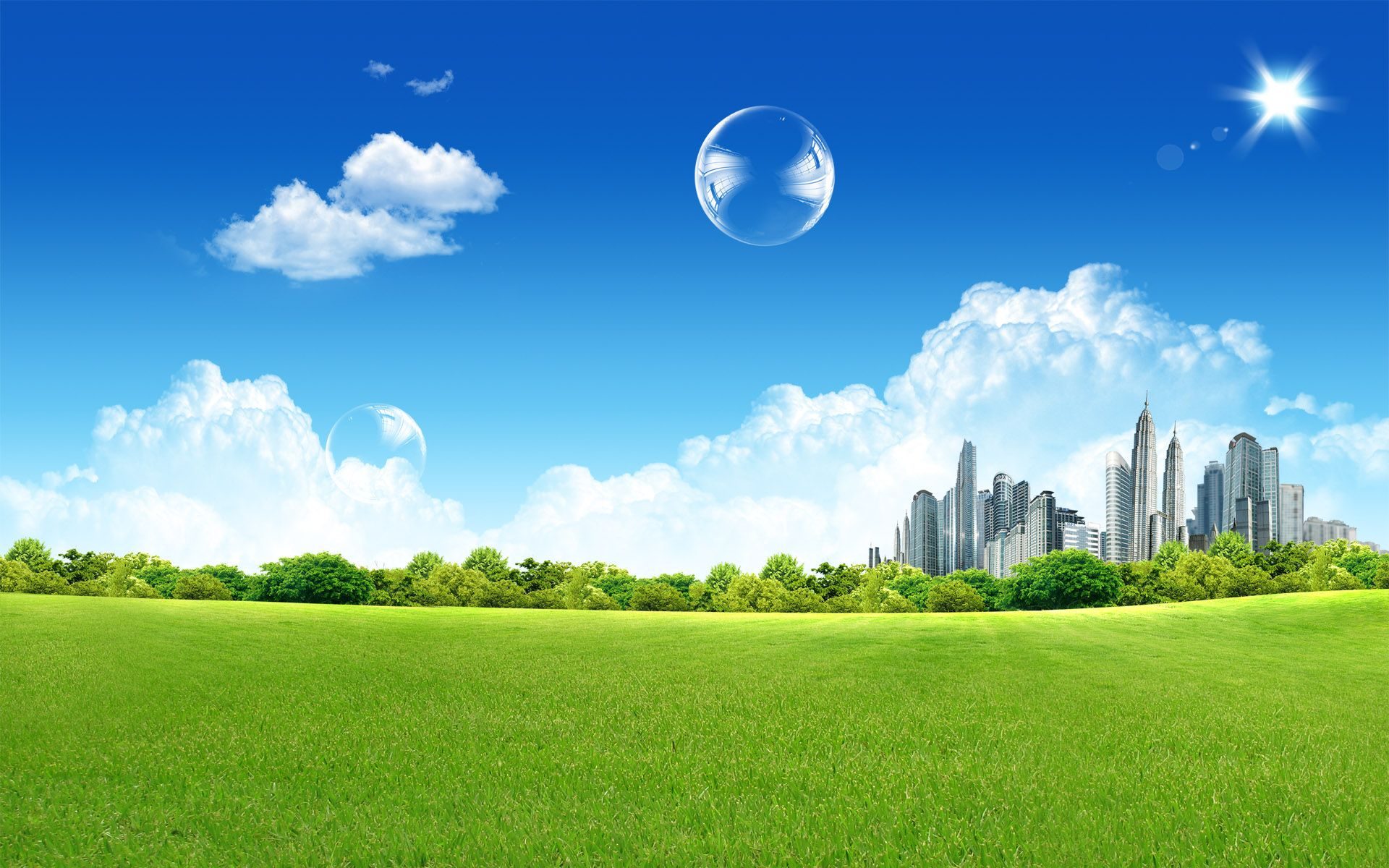 Fantasy City Background Buble Photo Photography Wallpaper City Wallpaper Summer Landscape