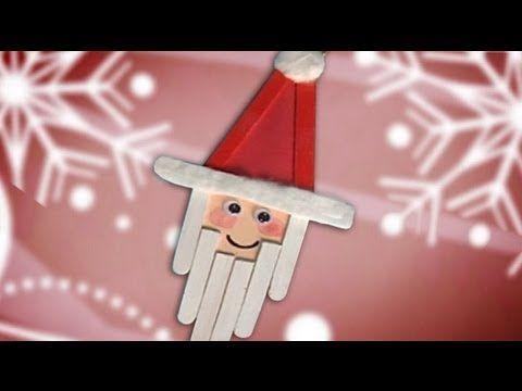 Un Papá Noel de decoración en Navidad, manualidades para niños (+