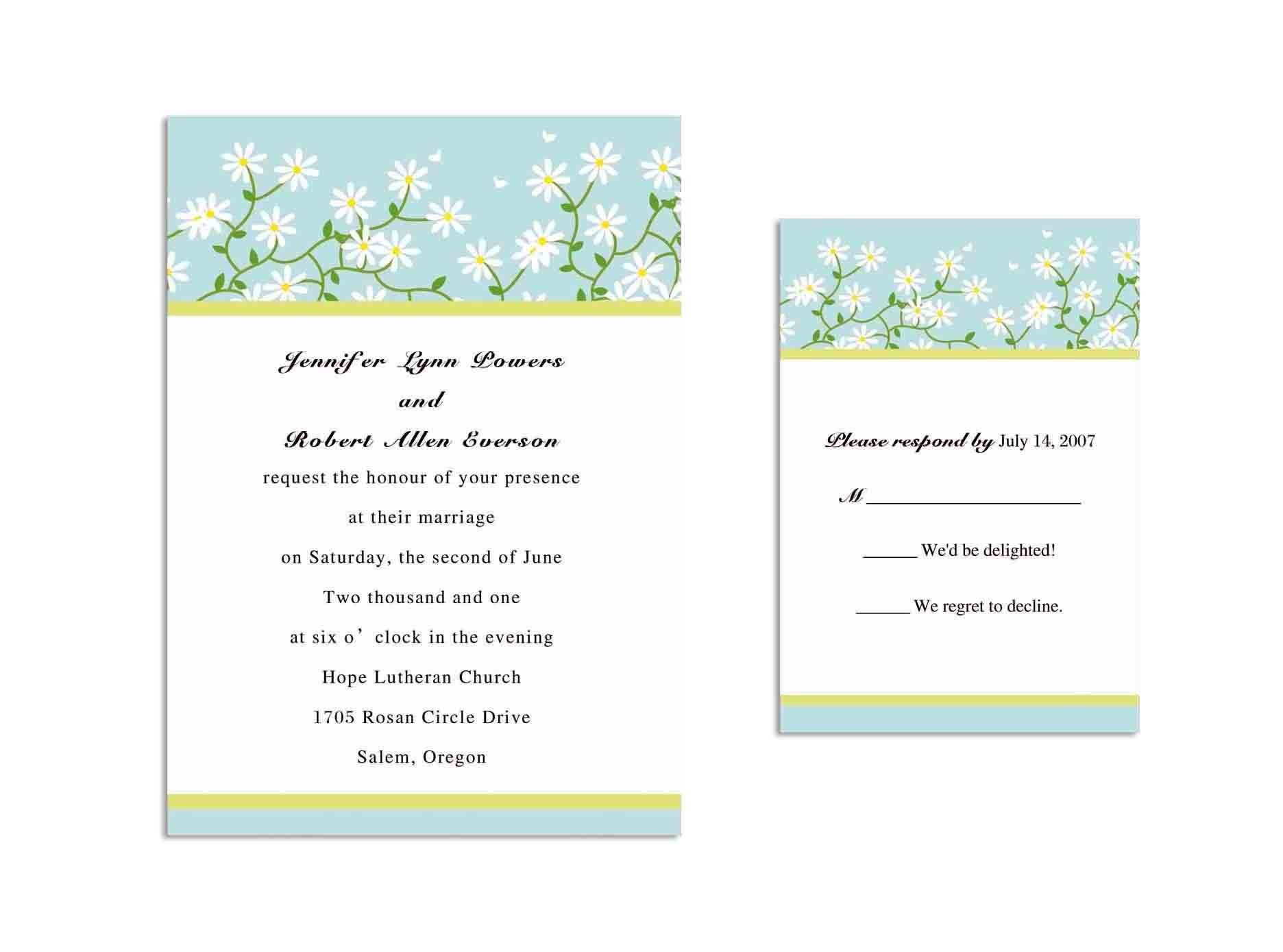 ms word invitation template free | Invitations card template ...