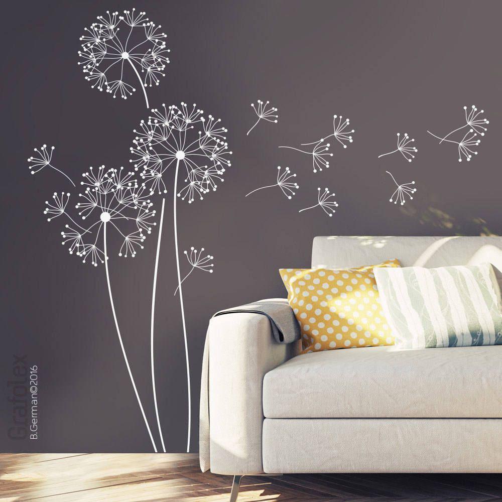 wandtattoo pusteblume mit flugsamen 151cm hoch l wenzahn. Black Bedroom Furniture Sets. Home Design Ideas