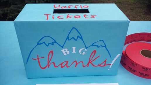 raffle ticket box cricut diy pinterest raffle tickets