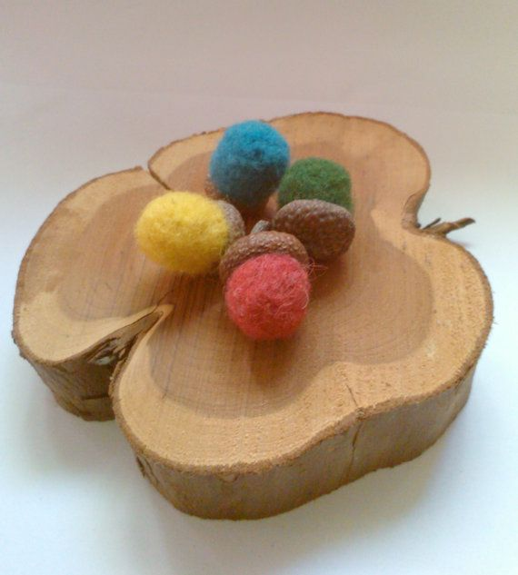 Hungry Squirrels Color Sorting Game With Felted by BraveBeaver